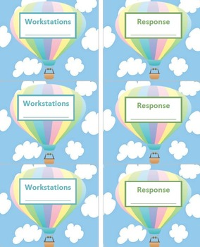 Notebook Labels (Hot Air Balloons)