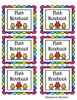Notebook Labels: Monsters