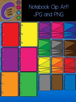 Notebook Notebooks Clip Art Color Images