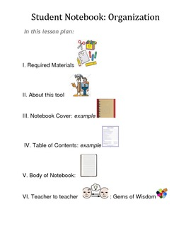 Notebook Organization