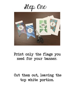 Notebook Paper Alpha Flags for Hanging Banners!