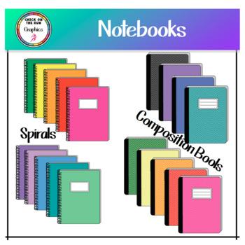 Notebooks (Digital Clip Art)