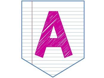 Notebook Paper Pennants