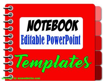 Notebook PowerPoint Slide Template