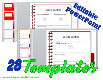 Notebook PowerPoint Slide Template