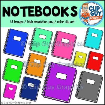 Notebook School Supplies Clip Art {Clip Guy Graphics Clipart}