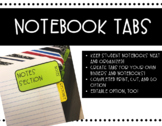 Notebook Tabs