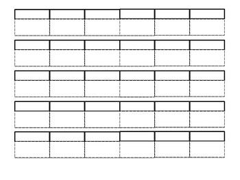 Notebook Tabs- Blank