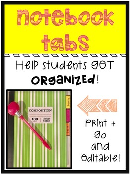Notebook Tabs For Organization