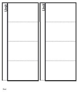 Notebook Vocab Flaps