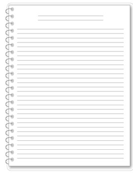 Notebook Writing Paper