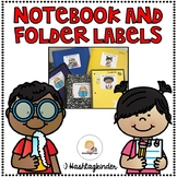 Notebook and Folder Labels