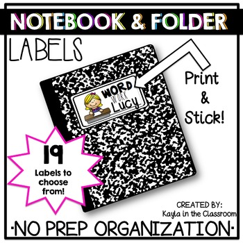 Notebook and Folder Labels (Avery 8163)