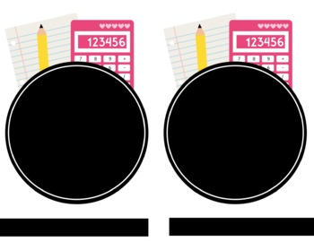 Notebook and Folder Labels - LARGE (Editable)