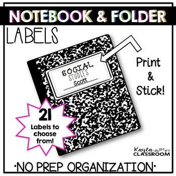 Notebook and Folder Labels *No Clip Art* (Avery 8163)
