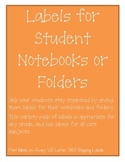 Notebook and Folder Labels Variety Pack