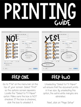 Notebook and Folder Labels for Students