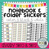 Notebook and Folder Stickers