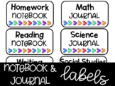 Notebook and Journal Labels