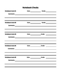 Notebook check pages for Interactive Student Notebook