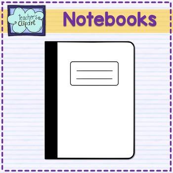 Notebook clip art classroom supplies FLASH FREEBIE