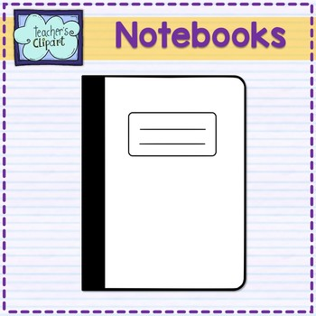 Notebook clip art classroom supplies