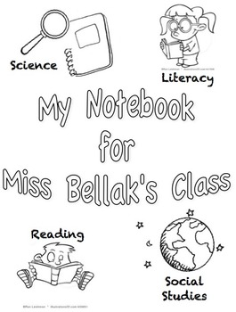 Notebook cover page Spanish and English