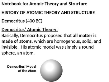 Atomic theory and the periodic table powerpoint lecture and guided notes urtaz Image collections