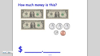 Notebook lesson on Money:  How to write amounts with dollars and cents