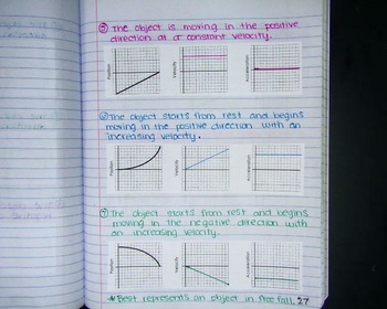 Notebook/Journal: Motion Graph Shapes