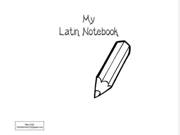 Notebooking Cycle 1 Latin - Ages 4-6 (to be used with classical conversations)