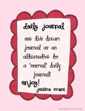 """Notebooking Daily Journal """"Last Night I Was..."""""""