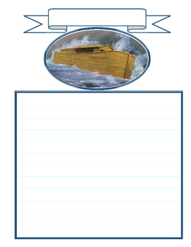Notebooking - Genesis 6-8 - Noah, the Ark, and the Flood