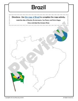 Notebooking Pages for Brazil