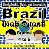 Brazil:  Geography Worksheets, Maps, and Journaling Pages