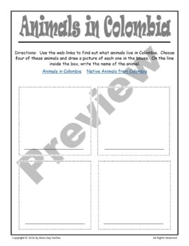 Notebooking Pages for Colombia
