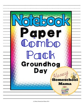 Notebooking Paper - Combo Pack - Groundhog Day