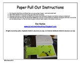 Notebooking - Paper Pull Out Template