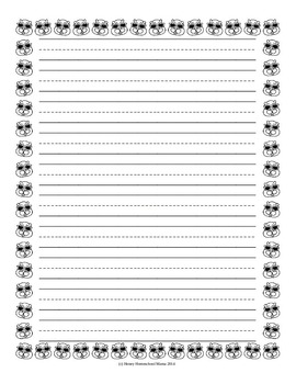Notebooking Paper - Themed Writing Paper for Beginner Writers- Groundhog Day