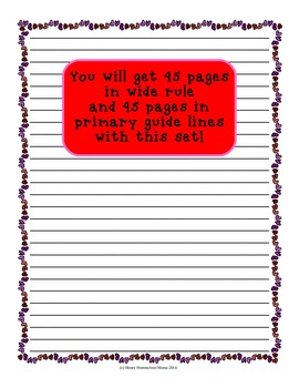 Notebooking Paper - Valentine's Day Combo 2 sets for all writers!