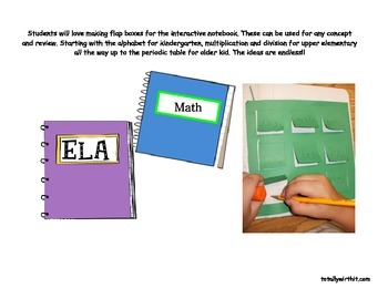 Notebooking Template (Flap Boxes)