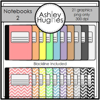Notebooks 2 Clipart {A Hughes Design}