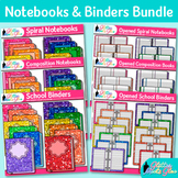 Notebook & Binder Clip Art Bundle {Rainbow Back to School