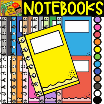 Notebooks - School Supplies - Cliparts set - 12 Items