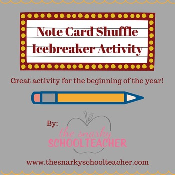 Note Card Shuffle: A New Twist on a Common Icebreaker!