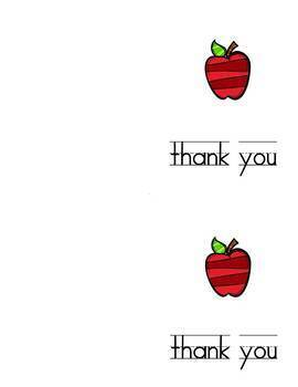 Notecards: Apple Thank You Long