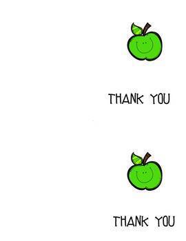 Apple Thank You Notecards {Long}