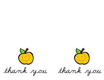 Notecards: Apple Thank You Wide