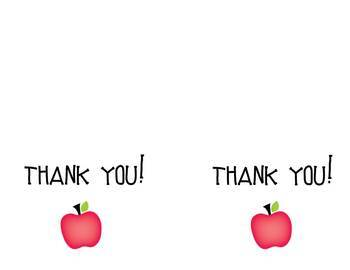 Apple Thank You Notecards {Wide}