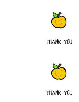 Notecards: Apple Thank you